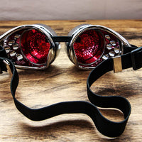 Simple Silver Steampunk Goggles with Elastic Strap