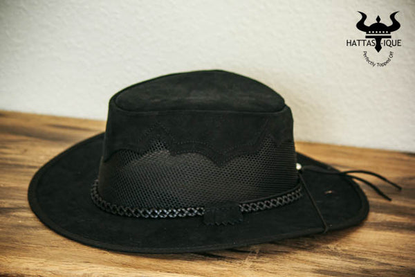 sirocco western hat black side view