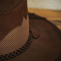 sirocco western hat brown close up