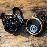 Steampunk Copper Goggles LED Light