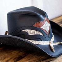 storm western hat side view