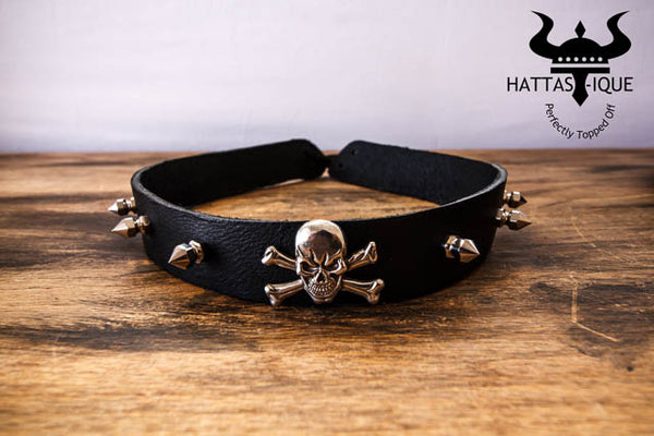 front view of punisher hatband
