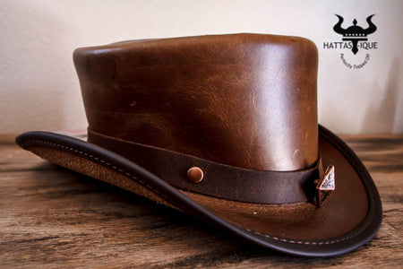 Bronze Studded Top Hat