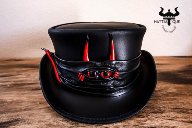 lil evil top hat with devil hatband