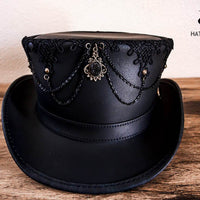 oracle top hat with lace