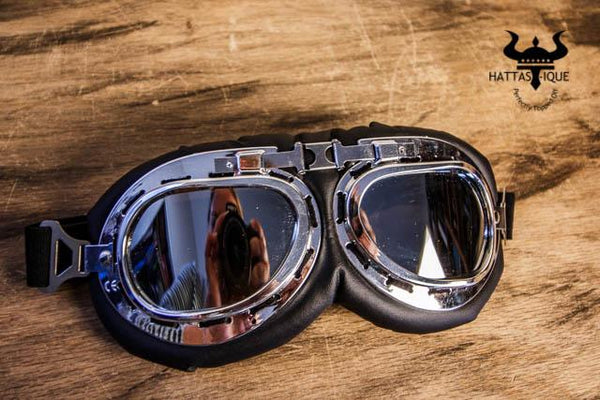 chrome tint ridding goggles