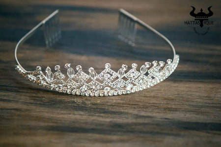 Regal Diamond Shaped Bridal Tiara