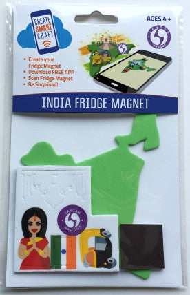 WAGGGS India DIY Fridge Magnet Kit  - SUGGESTED AGE GROUP  4yrs - 12yrs
