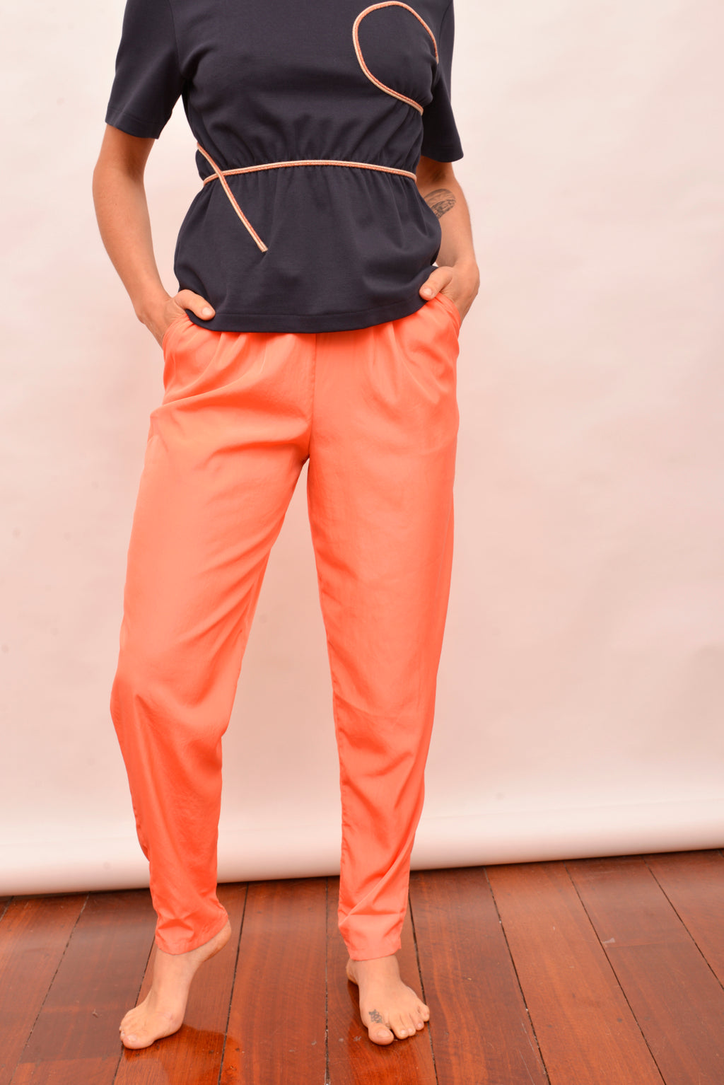 American Apparel Peach High Rise Pants (S) - Mercado32
