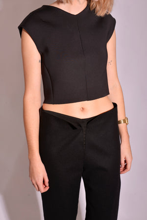 Country Road Cropped Neoprene Top (S) - Mercado32