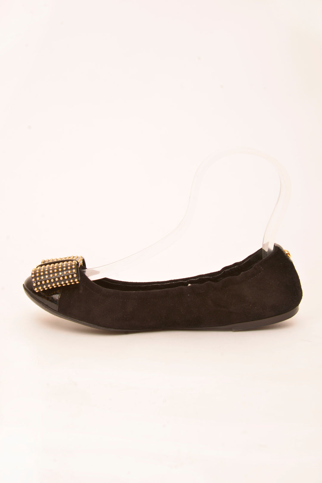 Louis Vuitton Suede Bow Ballet Flats in Black (38.5) - Mercado32