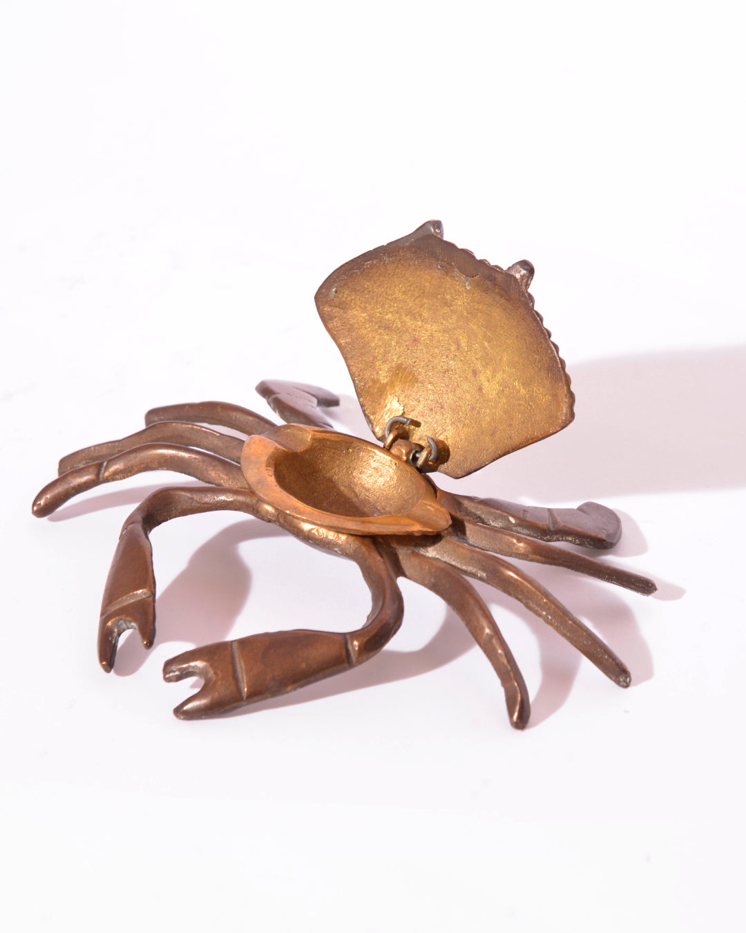 Vintage Brass Crab Ashtray - Mercado32