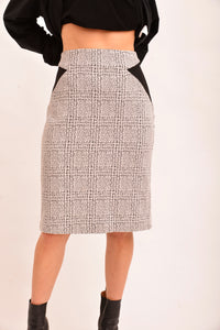 Cue Houndstooth Pencil Skirt (12) - Mercado32