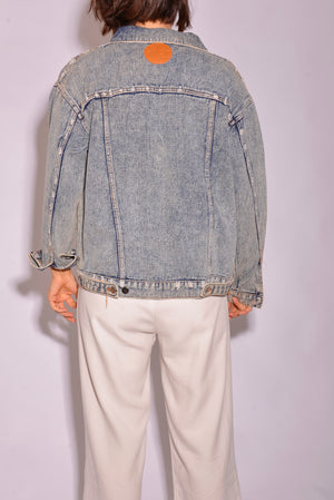 Axiom Acid Wash Denim Jacket (L) - Mercado32