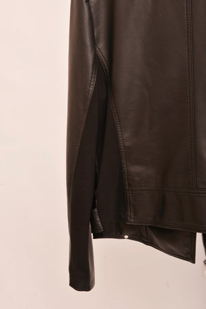 Express Faux Leather Jacket (L) - Mercado32