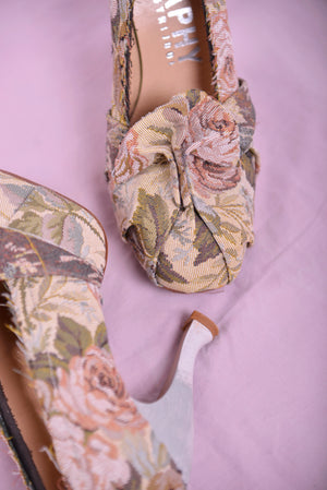 Biography Floral Fabric Heels (8) - Mercado32