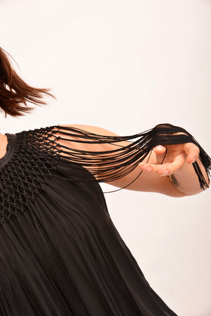Arthur Galan Silk Blouse With Fringe (S)