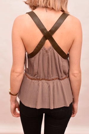 Kate Sylvester Pleated Cross Back Top (S) - Mercado32