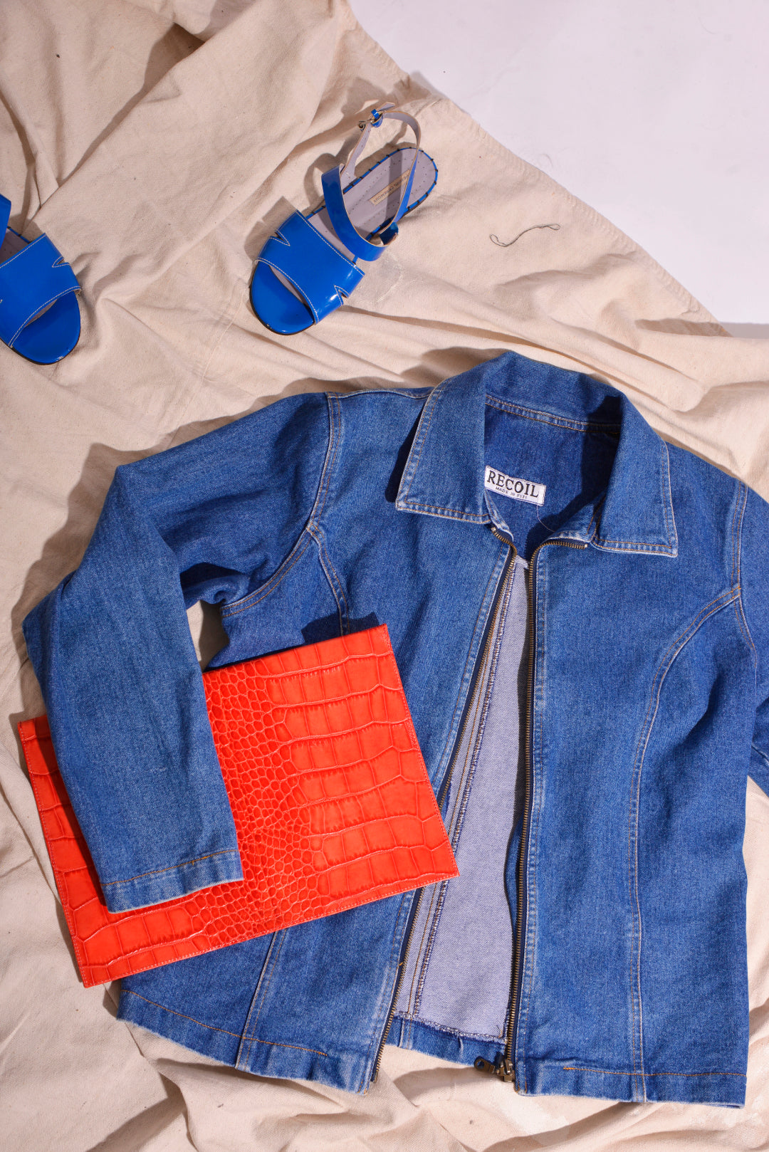 Vintage Denim Jacket (L) - Mercado32