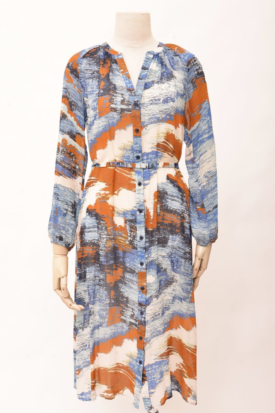 Saba Printed Silk Midi Dress (8)