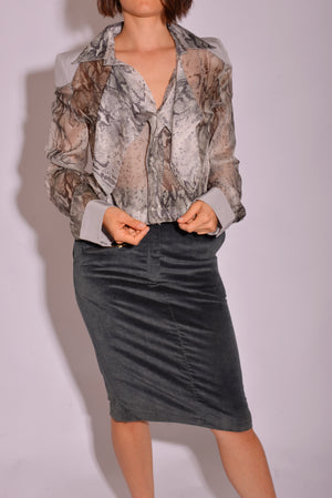 Ellery Silk Bibbed Shirt - Mercado32