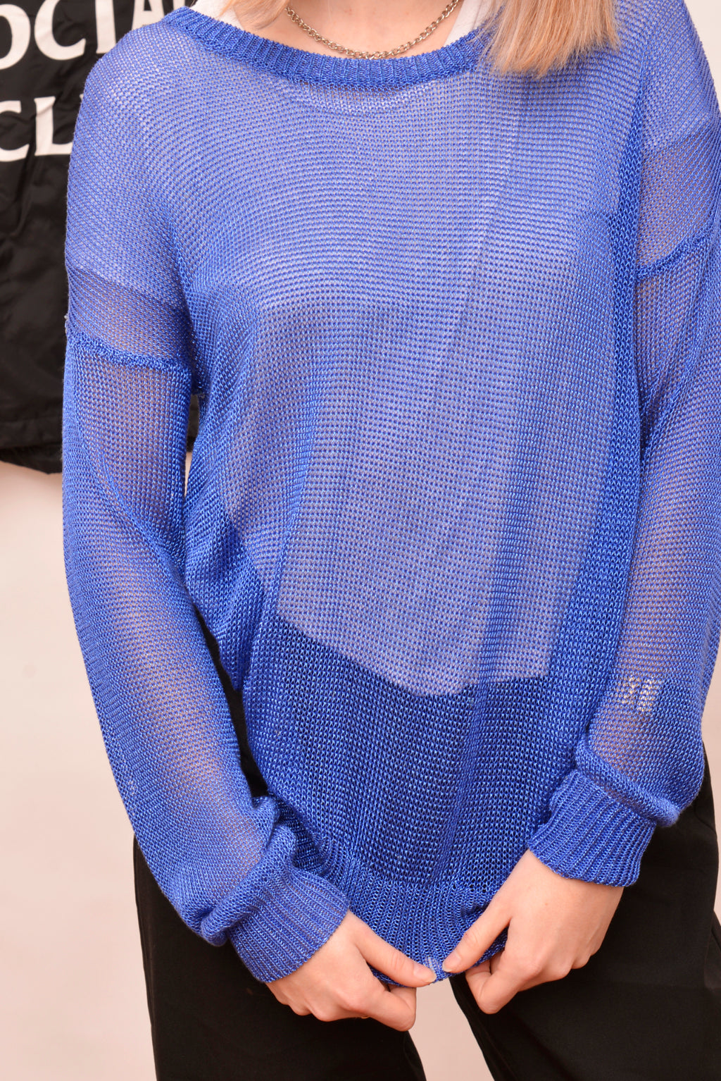 Thurley Blue Netted Knit (S) - Mercado32