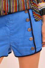 Vintage Blue Sailor Shorts (M) - Mercado32