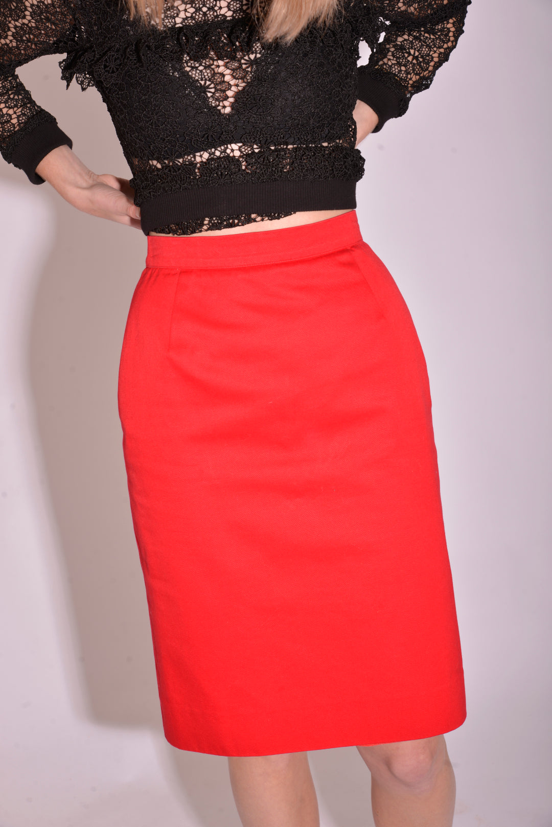 Vintage YSL Pencil Skirt (S/M) - Mercado32