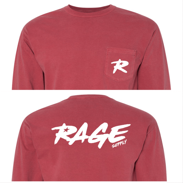 The Crimson Long Sleeve Pocket Tee