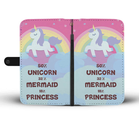 Image of 50% Unicorn Phone Wallet Case