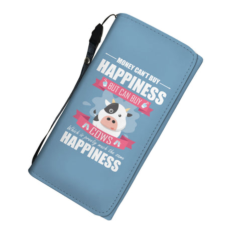 Image of Money Can't Buy Happiness But It Can Buy Cows Womens Wallet