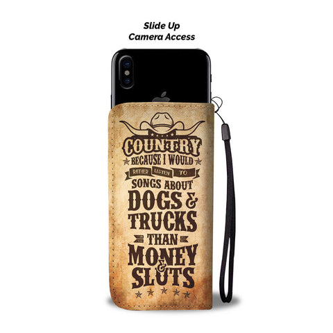 Image of Country Music Phone Wallet Case