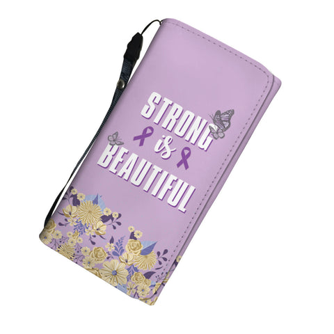 Image of Strong Is Beautiful Pink Ribbon ( breast cancer awareness ) Womens Wallet