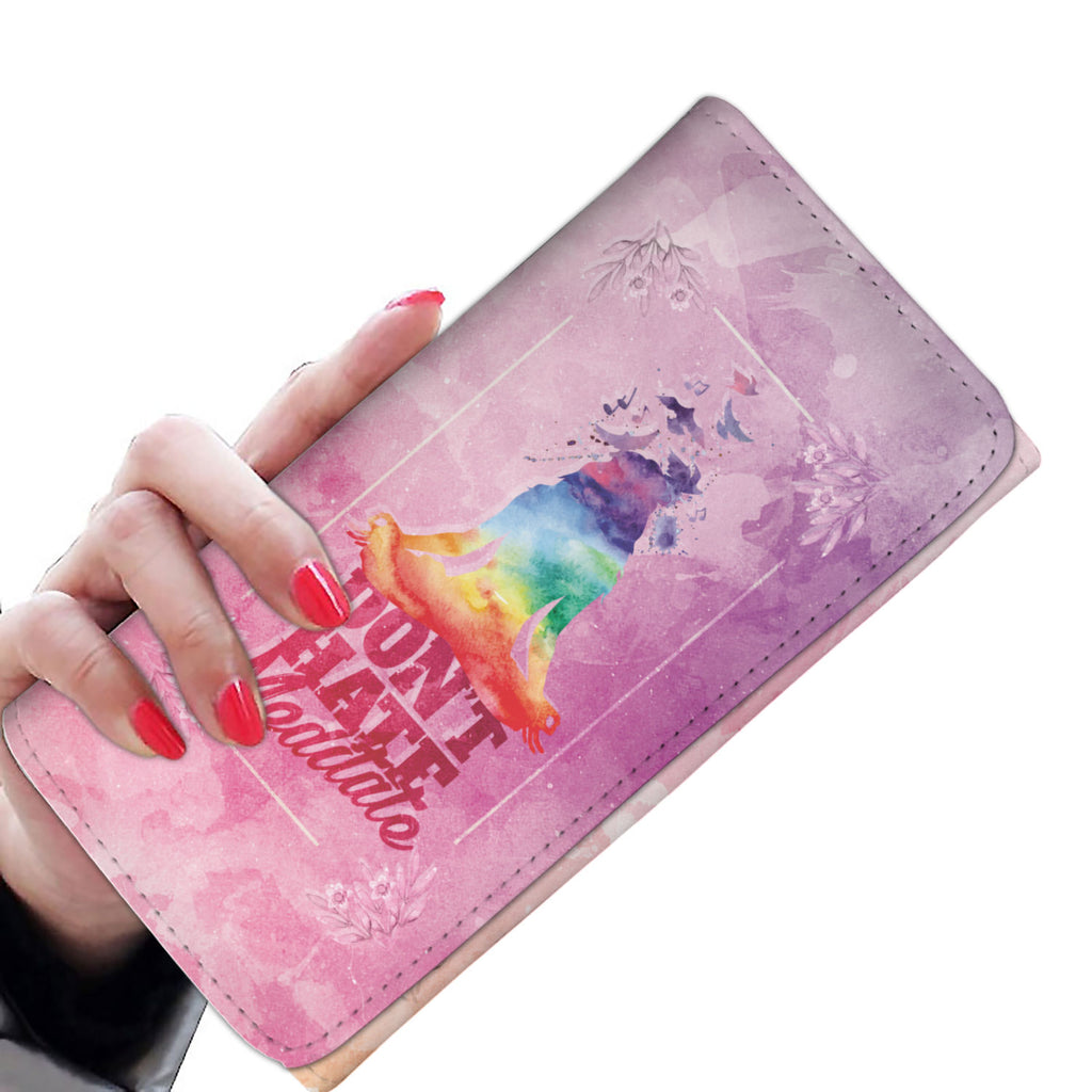 Don't Hate Meditate Womens Wallet