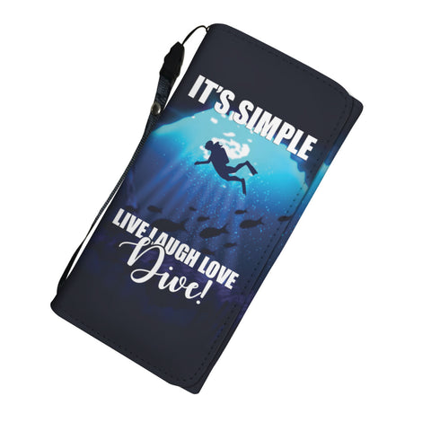 Live Laugh Love Dive Womens Wallet