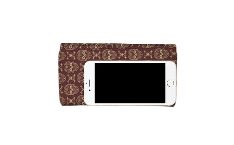 Skulls Phone Womens Wallet