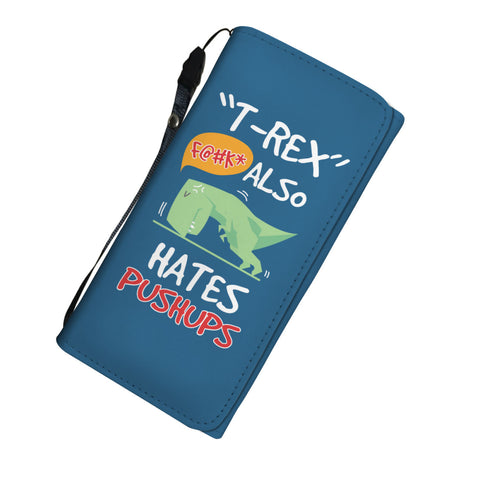 T-Rex Hates Pushups Womens Wallet