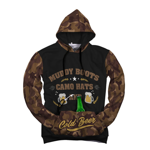 Image of Muddy Boots & Camo Pop Top Hoodie