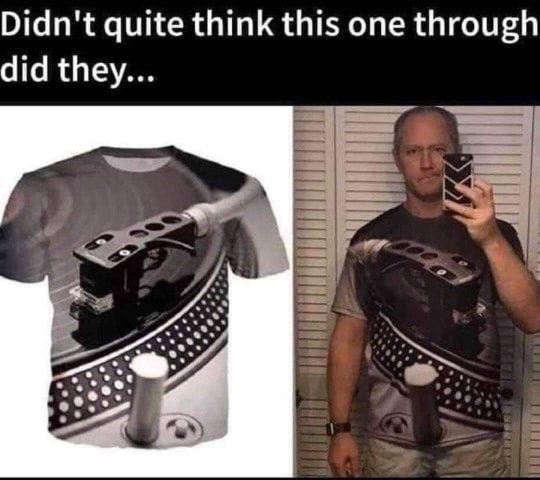 Ultimate Funny DJ Turntable Tee Shirt