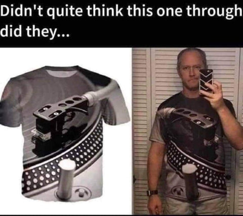 Image of Ultimate Funny DJ Turntable Tee Shirt
