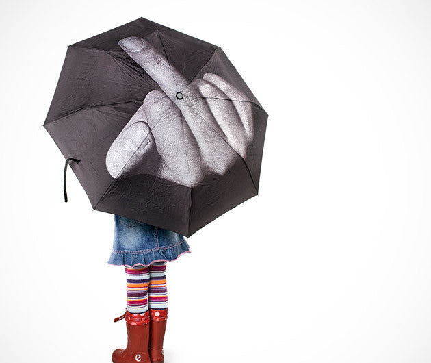 Middle Finger Umbrella Up Yours Mother Nature Umbrella Umbrella