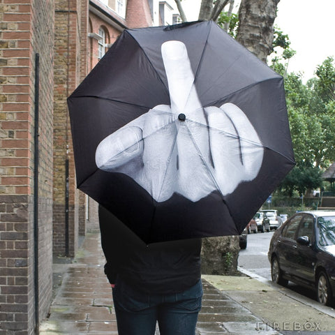 Image of Middle Finger Umbrella Up Yours Mother Nature Umbrella Umbrella