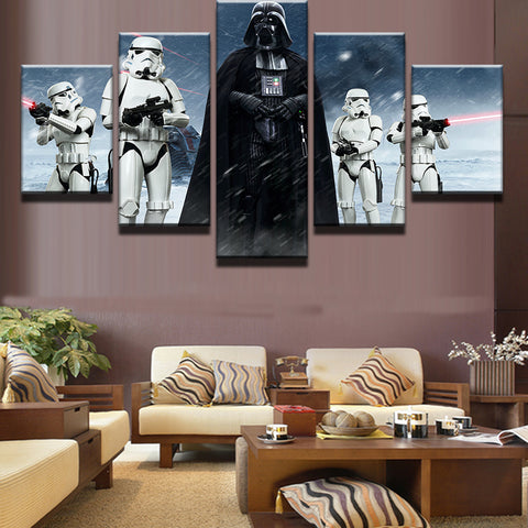 Image of 5 Piece Print Star Wars Darth Vader & Stormtrooper