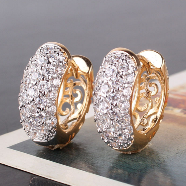 Cubic Zirconia Hoop Earrings - Free Just Pay Shipping