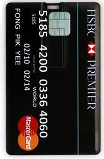4 GB Credit Card USB Flash Drive