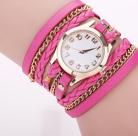 Women's Casual Wrist Watch Leather Bracelet GIVEAWAY