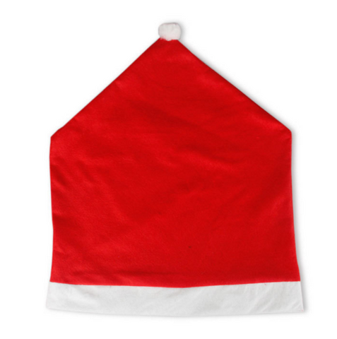 Image of Santa Clause Red Hat Chair Back Cover