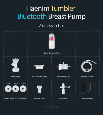 Spare Parts for Haenim 7A and 7S Bluetooth Breast Pump