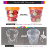 BeBeLock Tritan Containers 130ml/180ml/240ml