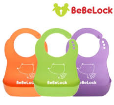 BeBeLock Soft Reusable Easy Wash Bibs (KOREA)